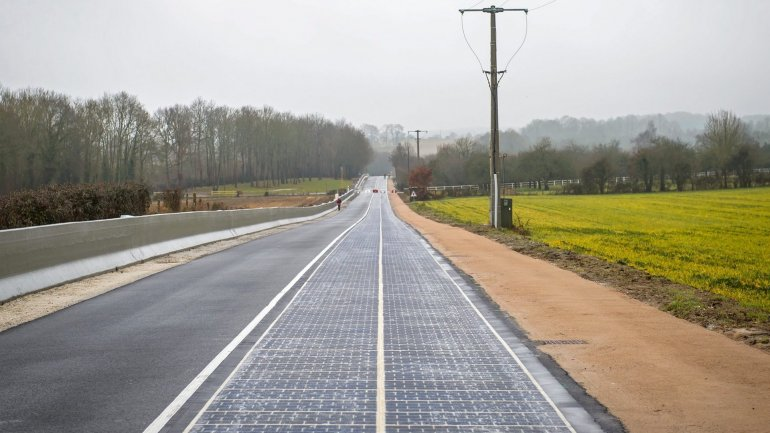 World's first solar panel road opens in Normandy village