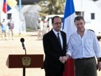 French President Hollande visits Colombia rebels