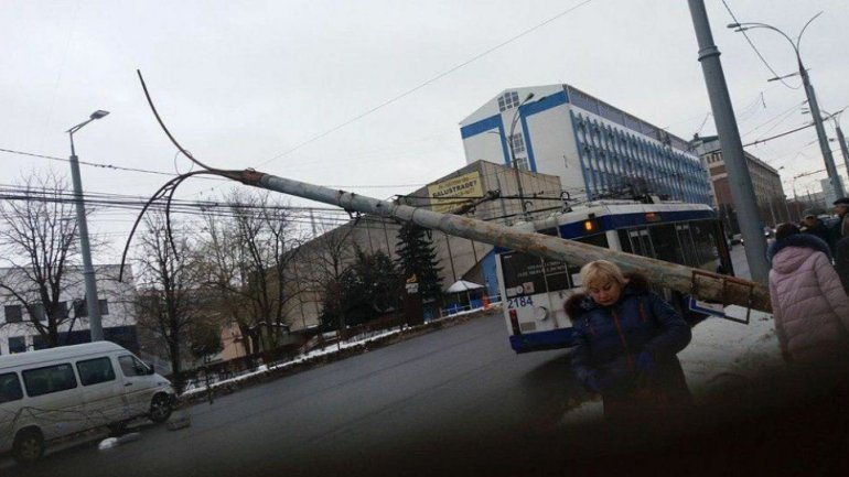 Traffic blocked in center of Chisinau because of THIS