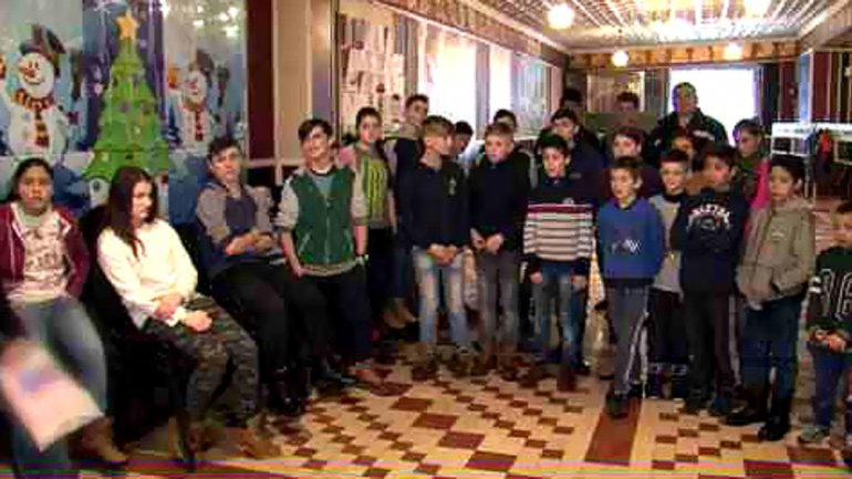 Joy of winter holidays brought to orphanage from Straseni town