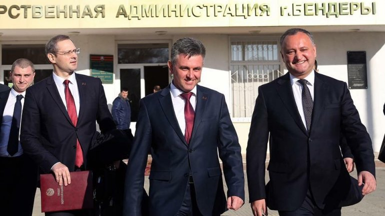 Moldovan president, Transnistrian region leader have working meeting in Bender