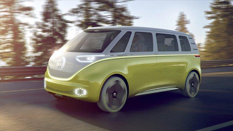 Volkswagen unveils electric microbus concept