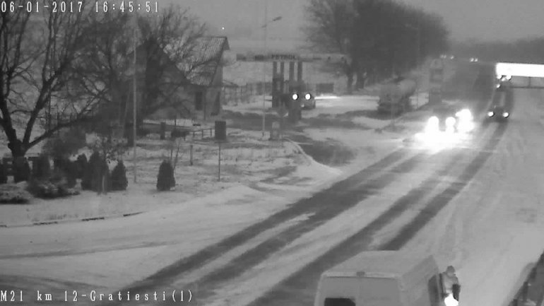 Weather Code Orange. Blizzard causes road closures