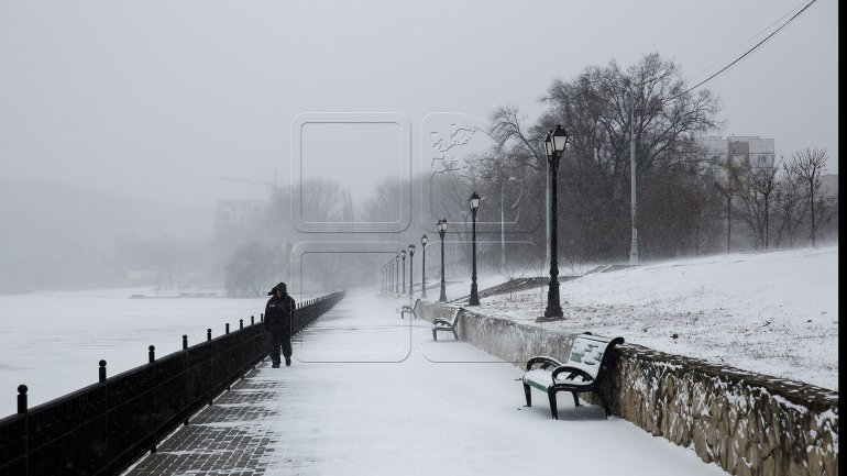 Blizzard hits Moldova bringing heavy snow and strong winds