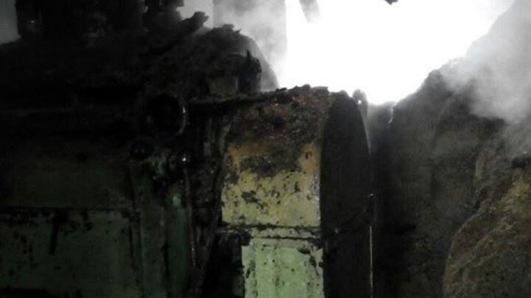 Mill in Hincesti district catches fire (PHOTO)