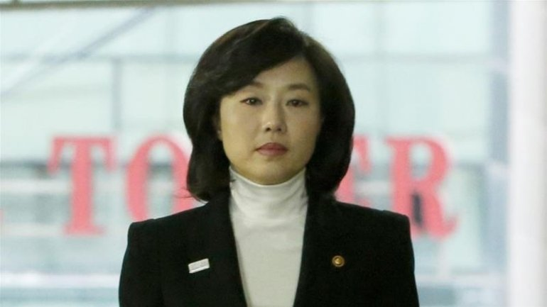South Korean culture minister arrested over abuse of power in political scandal