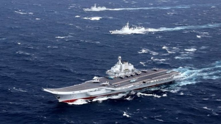 China aircraft carrier crosses Taiwan Strait amid tension