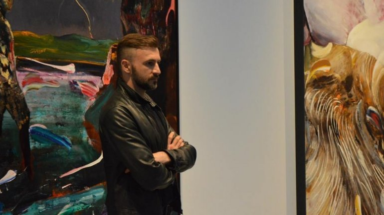Paintings by Romanian Adrian Ghenie, on display at New York art gallery