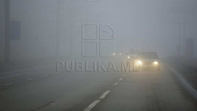 #InfoTrafic: Fog in Moldova. Movement in Chisinau