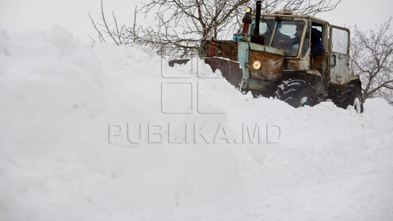Moldova, under Code Yellow of heavy snowfalls