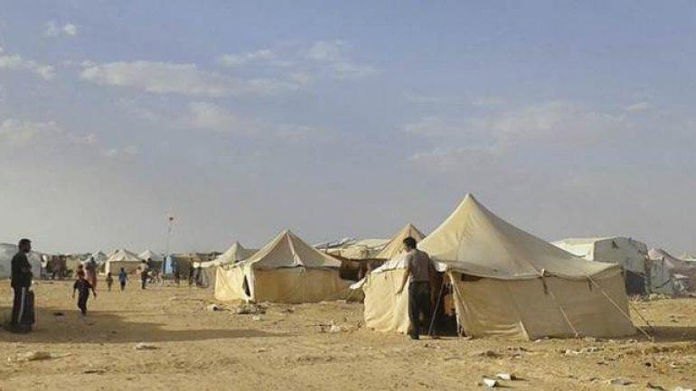 Blast kills four in Syrian camp near Jordan