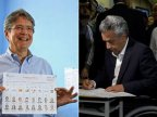 Ecuador election: Ruling party's Lenin Moreno leads knife-edge vote
