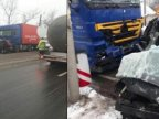 Man dies in car crash involving truck