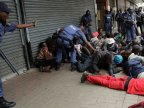 Protests against migrants in South Africa. Police use rubber bullets