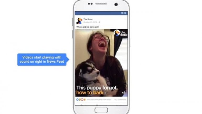 Facebook videos to autoplay with sound