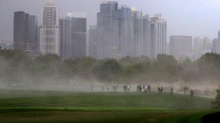 Snow alert during rare storm in Gulf desert UAE