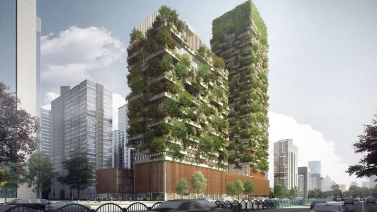 China to get vertical gardens in 2018 to help tackle pollution(PHOTO)