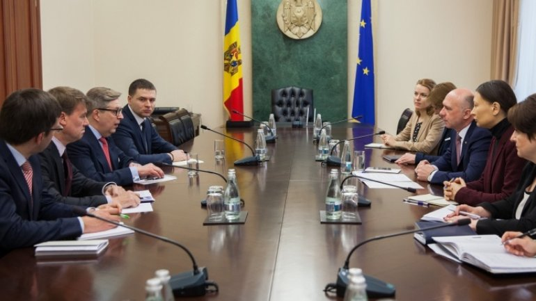 Moldovan Premier discusses with mission from ECFIN Directorate of EU