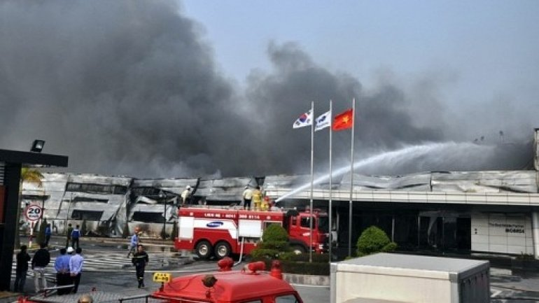 FIRE at Chinese factory supplying batteries to Samsung