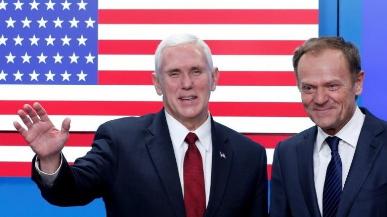 US Vice President Mike Pence assures European leaders of Trump's support
