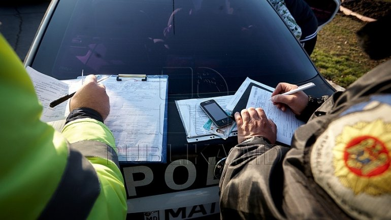 White Nights. Police performs checks to prevent traffic accidents