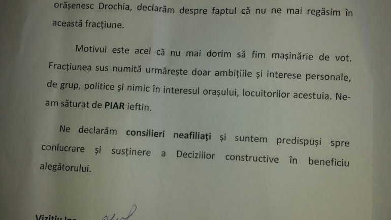 New departures from Our Party of fugitive criminal Renato Usatii: Four councilors from Drochia town LEFT the party