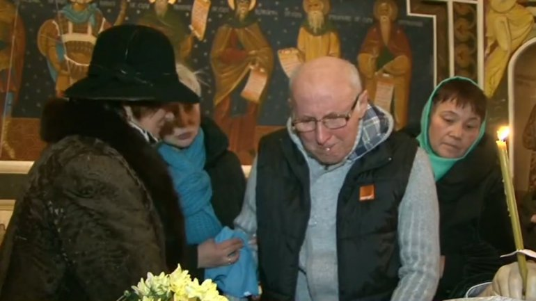 Tears and Sorrow! Actor Gheorghe Urschi's last goodbye to friend, Gheorghe Parlea