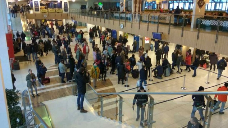Havoc on Chisinau airport as many flights are canceled because of fog