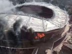 Chinese Super League: Shanghai Shenhua stadium damaged by fire (PHOTO)