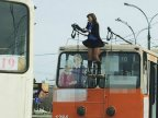 VIRAL PHOTO. Trolleybus driver becomes Facebook star after being captured wearing skirt and changing horns