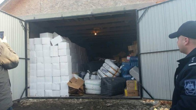 Goods worth of THREE MILLION LEI seized by border police