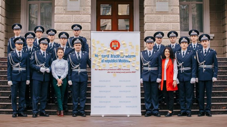 Minister of Internal Affairs employees congratulate citizens with arrival of spring (PHOTO)