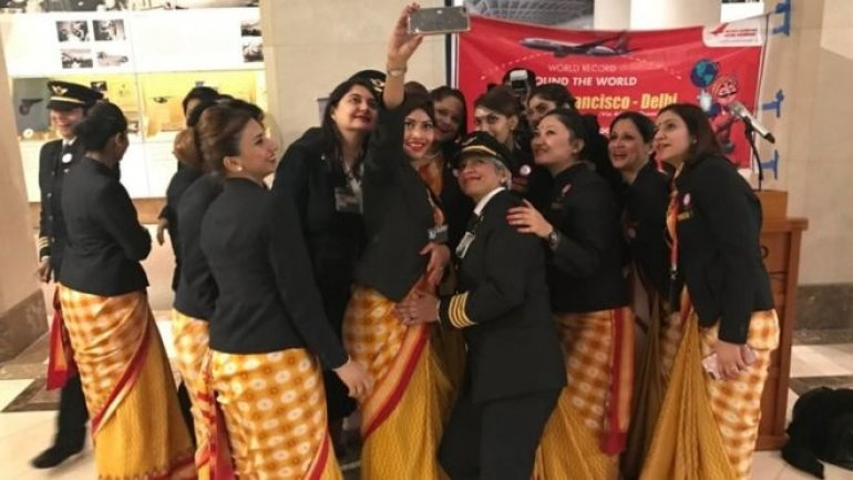 First flight around the world with an all-women crew, Air India says