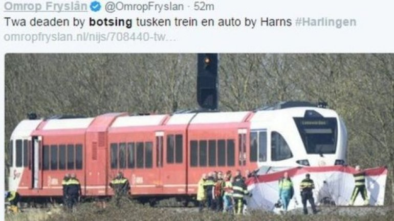 Dutch train crash near Harlingen leaves two dead
