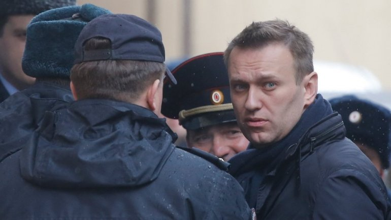 Russian opposition leader, behind bars after anti-government protests
