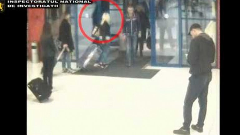 Moldovan young woman, held in airport for pandering (VIDEO)
