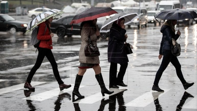 WEATHER FORECAST for coming days. Rains overwhelm Moldova