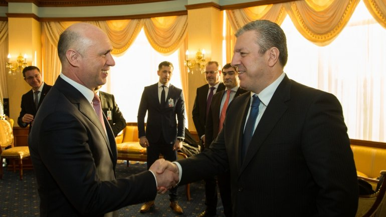 Moldovan-Georgian partnership discussed by PM Pavel Filip and Giorgi Kvirikashvili