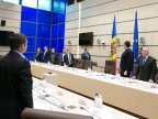 STATE FLAG honored at meeting of Standing Bureau of the Parliament