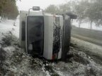 Bus carrying students OVERTURNED near Soldanesti town