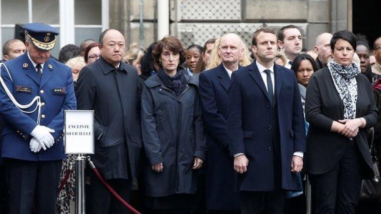 France election: Candidates honour shot officer Jugelé