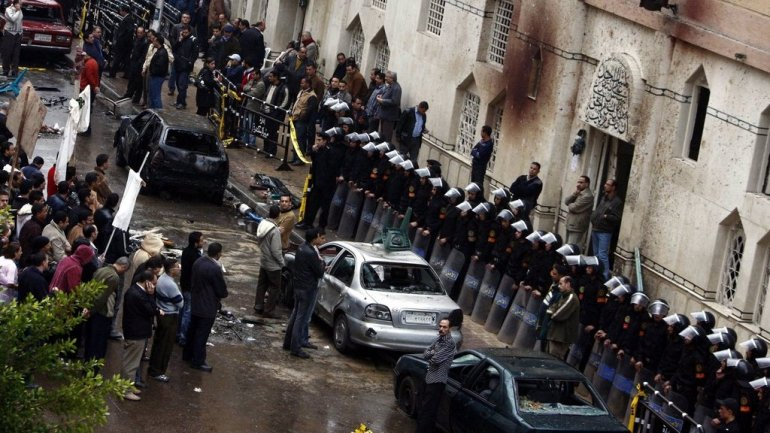 Second blast at Coptic church in Egypt. ISIS claims both assaults