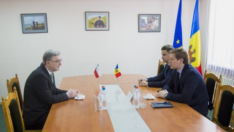 Head of Border Police held meeting with ambassador of Czech Republic to Moldova