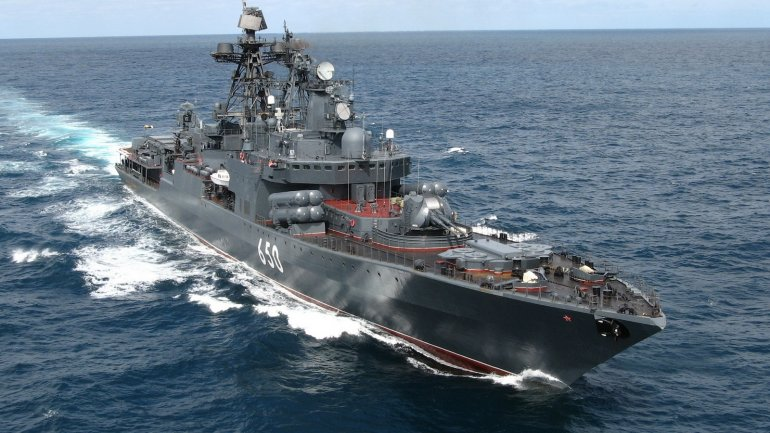 Russian military ship hit cargo ship in Black Sea