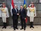 Speaker Andrian Candu showed Prince Albert of Monaco around Parliament