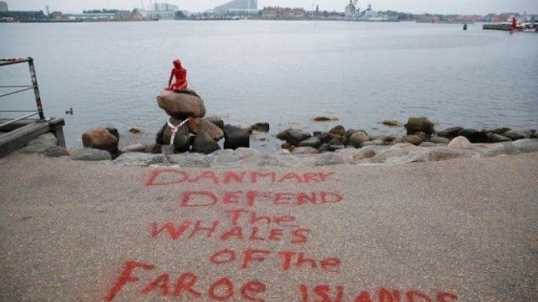 Copenhagen's Little Mermaid statue doused with paint again
