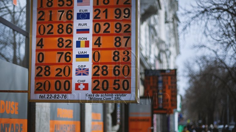 EXCHANGE RATE for May 2, 2017. Moldovan leu, down as to euro