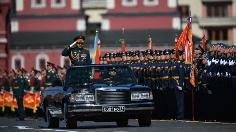 Parades all over Russia celebrating Victory Day