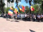 Protest AGAINST the change of electoral system. HUNDREDS gather in front of the Parliament