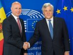 Moldovan Speaker, Premier discussed with President of European Parliament in Brussels